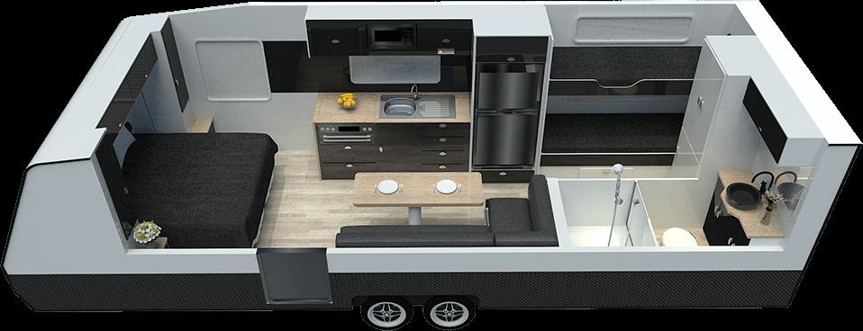 21ft Discoverance DT21 A - Floor Plan
