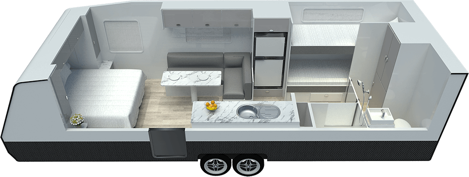 22ft Discoverance DT19 B - Floor Plan